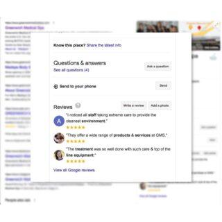 Google Reviews medspa marketing